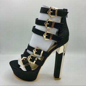 Mascottte | Black Glitter Jaime High Heels
